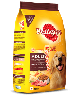 Pedigree Adult Dog Food Meat and Rice 1.2kg