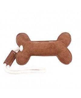 DOG LEAYHER TOY SMALL BONE