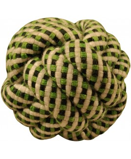 Smarty Pet Cotton Rope Braided Ball Play Fetch Toy