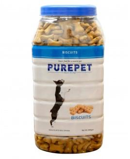 Purepet Milk Flavour, Real Chicken Biscuit,Dog 905g