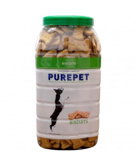Purepet 100% Vegeterian Biscuit ,Dog Treats- Jar, 1kg