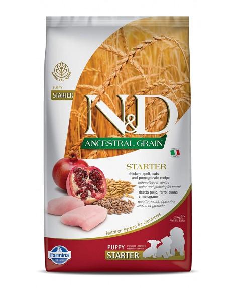 N&D Chicken & Pomegranate Puppy Starter Ancestral Grains 2.5kg