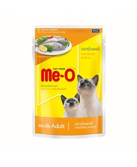 Me-O Adult  Wet Food Mackerel in Jelly, 80 g  x 12 Pouches