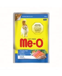Me-O Adult  Wet Food Ocean Fish, 80 g x 12 Pouches