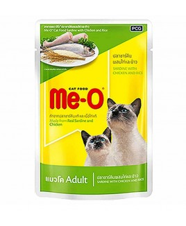 Me-O Adult  Wet Food Sardine with Chicken and Rice,80g x12