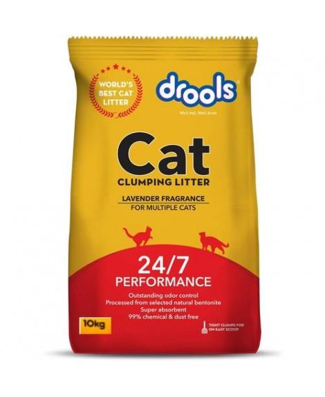 Drools Clumping Lavender Fragrance Cat Litter 10kg
