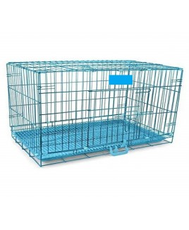 Dog Cage With Removable Tray (Blue, 42 Inch)