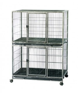 Two Floor Pet Cage Imported Pipe Fram