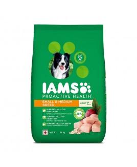 IAMS Proactive Health Adult Small & Medium Breed Dogs 1.5kg