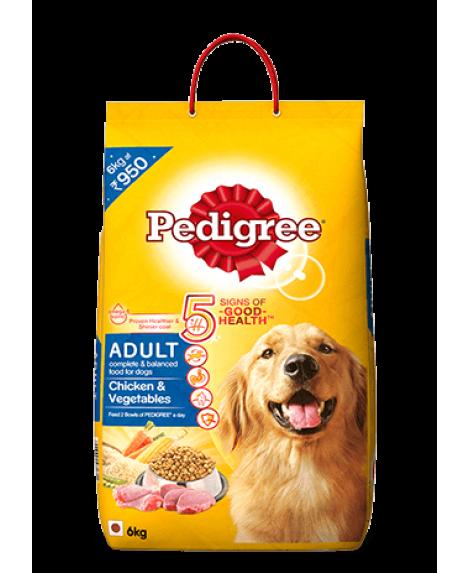Pedigree Adult Dog Food Chicken and Vegetables 6kg
